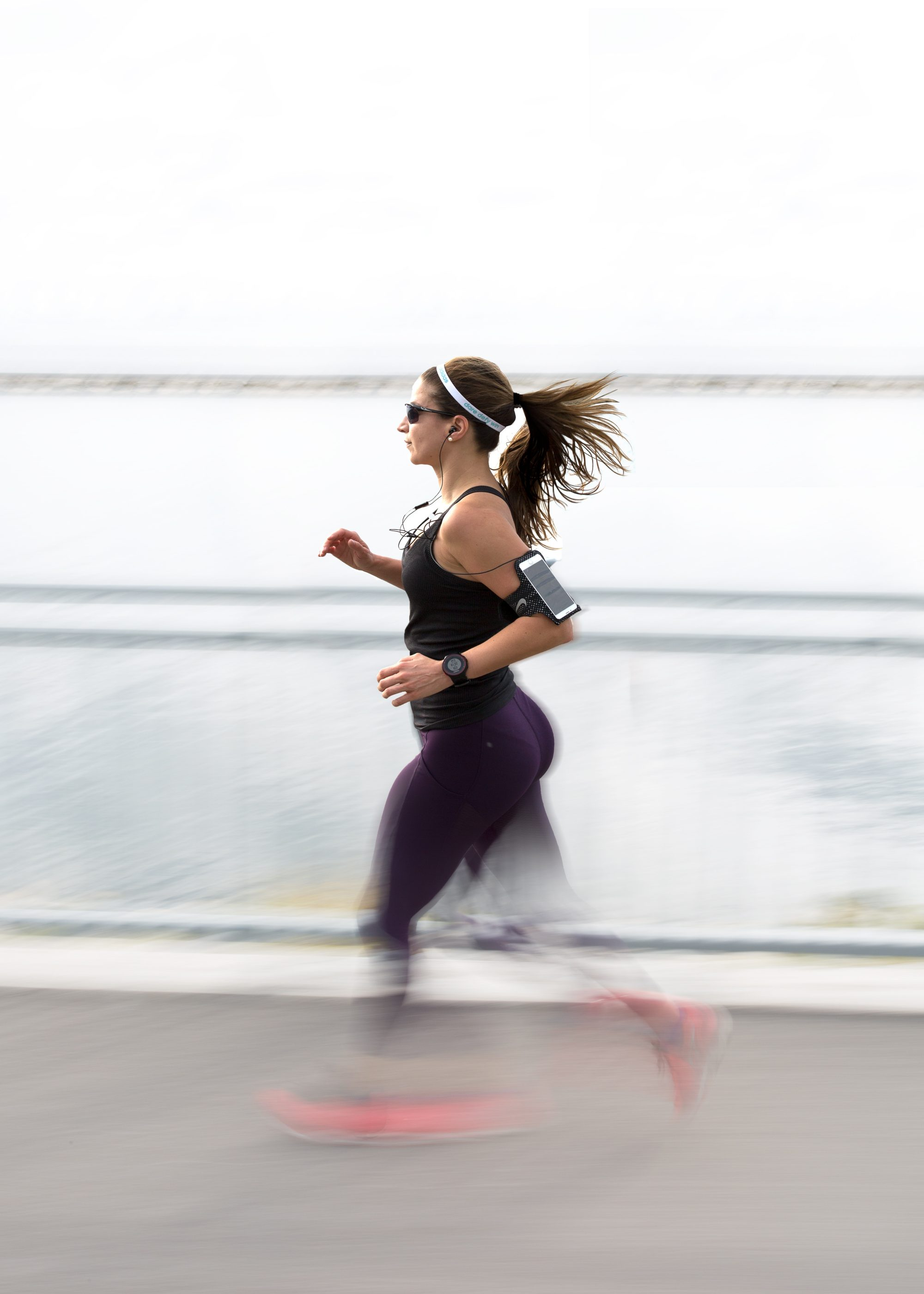 woman running fast active exercise